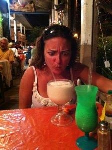 Nina drinks Utila...