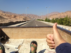 Hitch-hiking into the Sinai...
