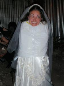 Once I let my friends dress me up in a garbage bag at a bar?  Not the only time this has happened, sadly :(